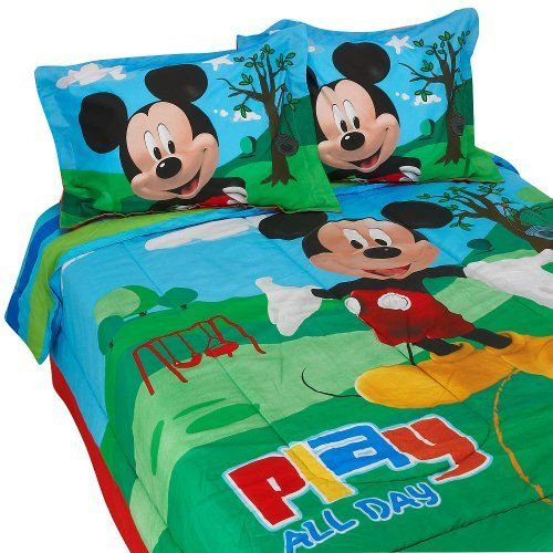 Disney Mickey Mouse Clubhouse Full Size Comforter Bed Skirt And