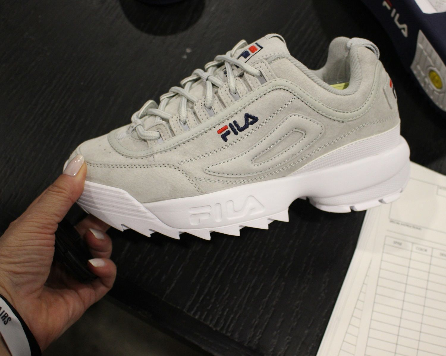 92c78c3ac A preview of Fila's Disruptor II pastel and metallic colorways for women  slated to launch in the coming months.