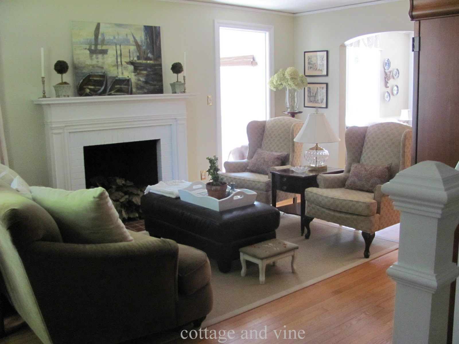 living room with fireplace and tv. Image result for 4 arm chair arrangements with fireplace  Living Room Decor