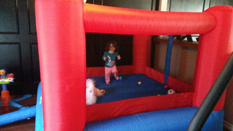 Inside toddler bounce house, best purchase ever!!!