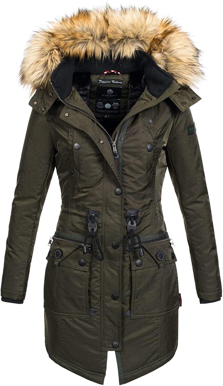 promo code 81005 d5512 Marikoo warme Damen Winter Jacke Mantel Parka Winterjacke ...