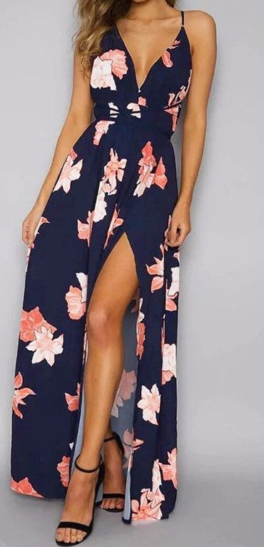 Tangerine Vibe Navy Blue Criss-Cross Maxi Dress