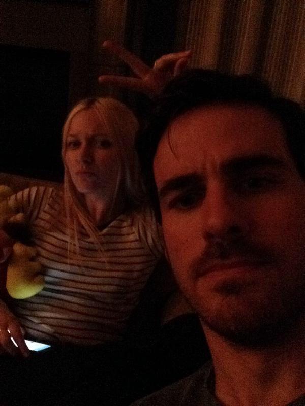 Georgina & Colin watching episode 4x04