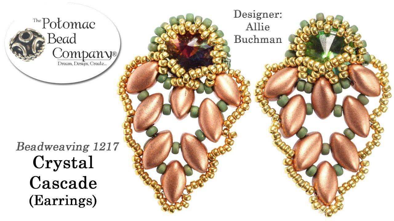 Crystal cascade earrings tutorial earring patterns