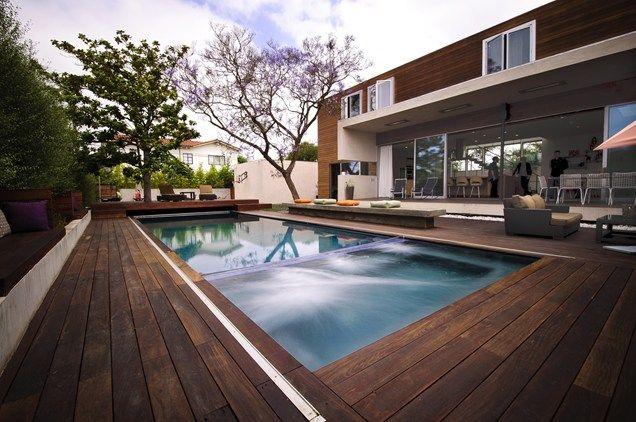 Wood Deck Design Rectangle Pool Google Search Deck