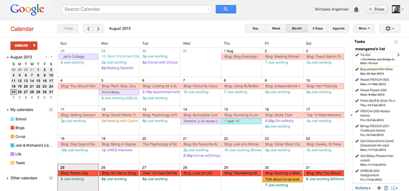 An Ode to Google Calendar [Blog Every Day in August]
