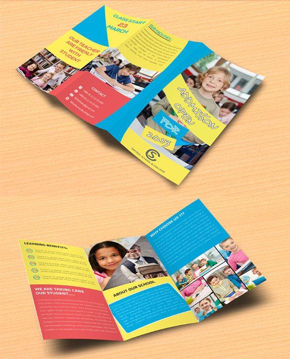 21  kindergarten brochure templates  u2013 free psd  eps  ai  indesign  word  pdf format download