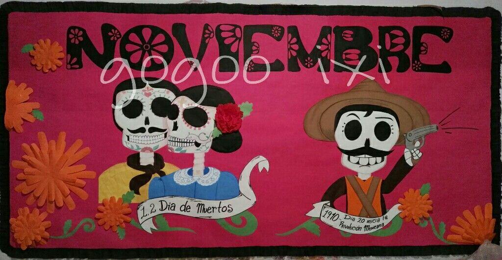 Periodico mural noviembre mis trabajos pinterest for El mural periodico jalisco