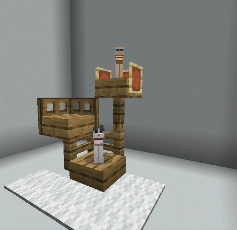 I made this for my cats : Minecraft #minecraftbuildingideas I made this for my cats : Minecraft #minecrafthouses