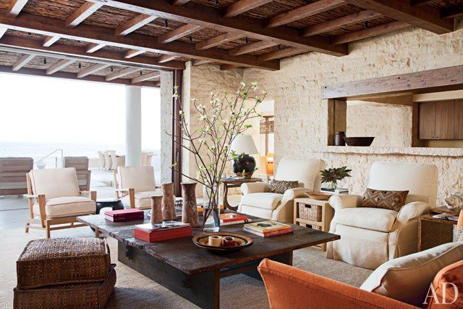 Rustic Living Room By Studio Sofield By Architectural: A Laguna Beach Retreat Becomes A Rustic And Refined Family