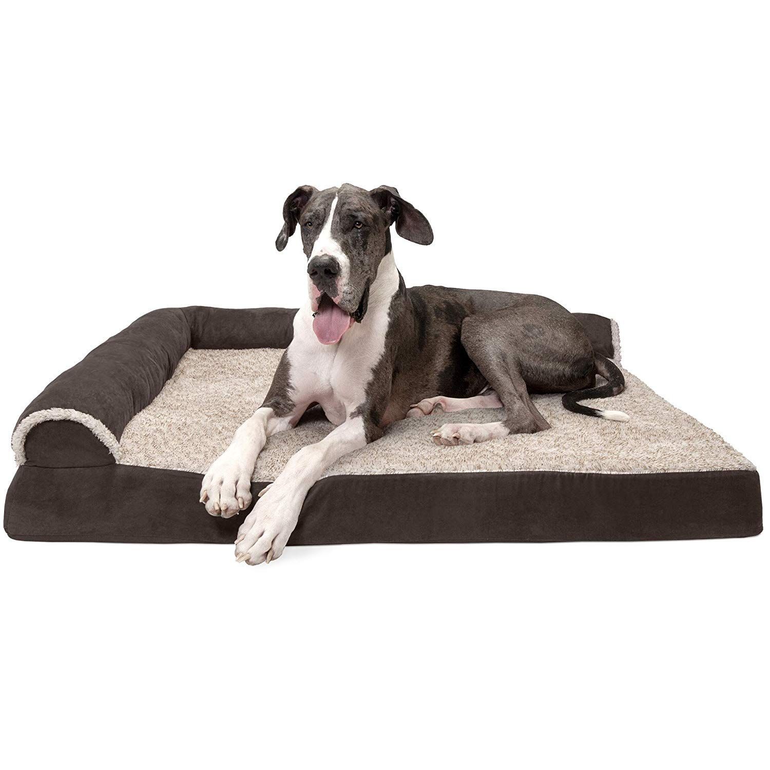 Furhaven Pet Dog Bed Orthopedic L Shaped Chaise Lounge Sofa Style Living Room Corner Couch Pet Be Dog Pet Beds Couch Pet Bed Pet Sofa Bed