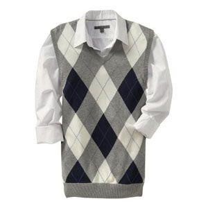 Light Grey Argyle Sweater | My Style | Pinterest