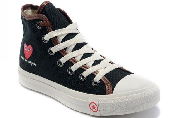 e00627a4ddd6  converse Converse Comme des Garcons Play III Red Heart Black High Top  Canvas Sneakers