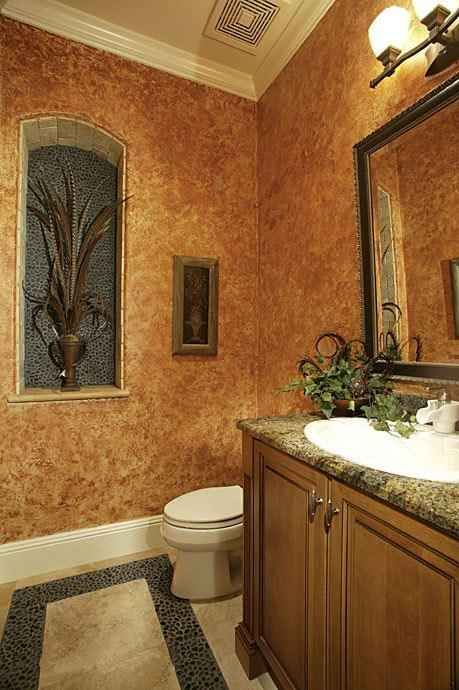 Bathroom Painting Ideas with brown walls attached to a plugged .