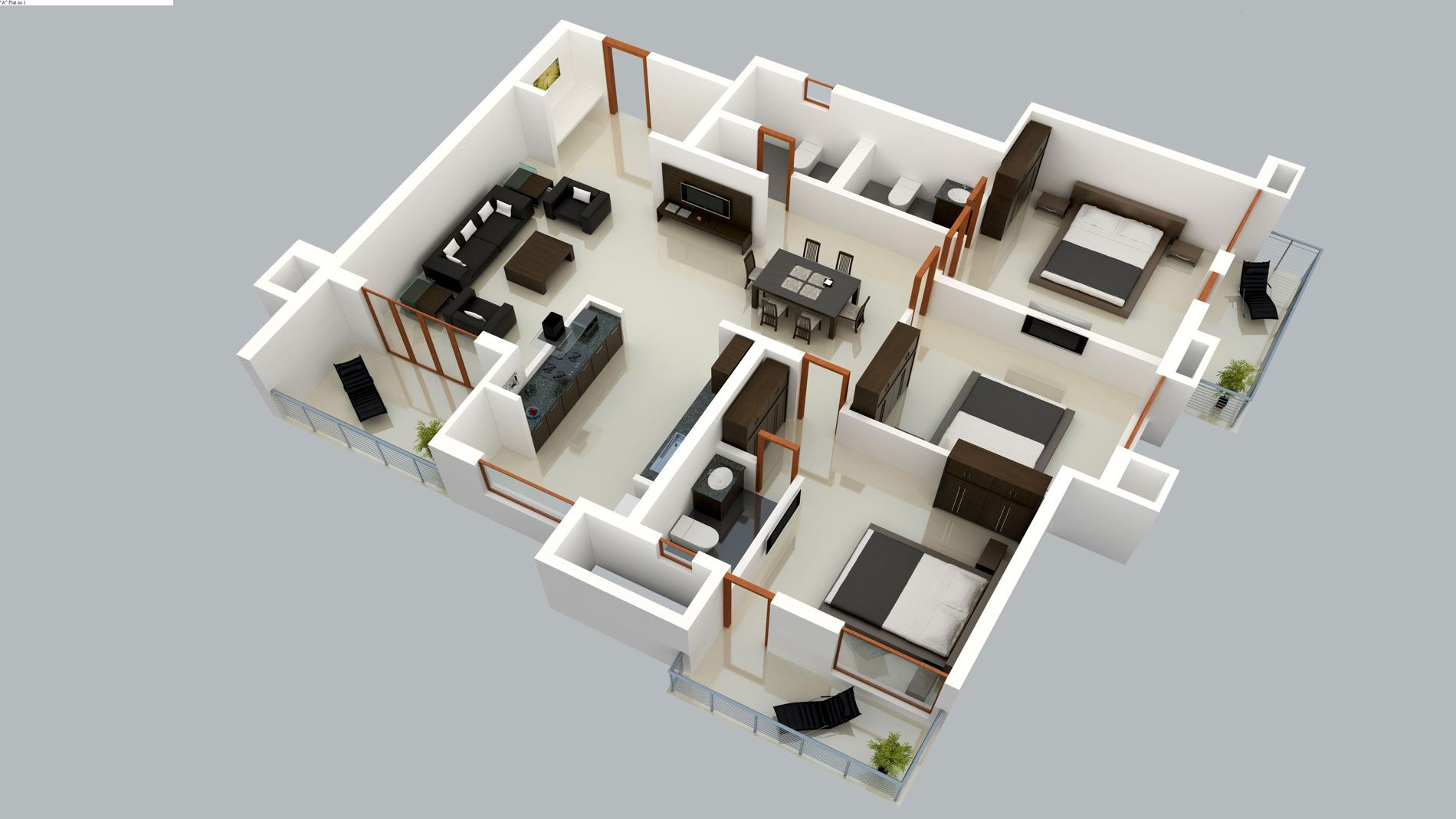 Pin by Juth Mac on Interior Design 3D Plans | Pinterest | Interiors