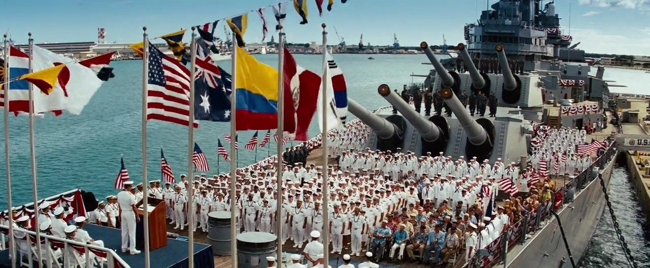 Battleship (2012) Telugu Dubbed Movie Screen Shot-2   Dubbed in 2019