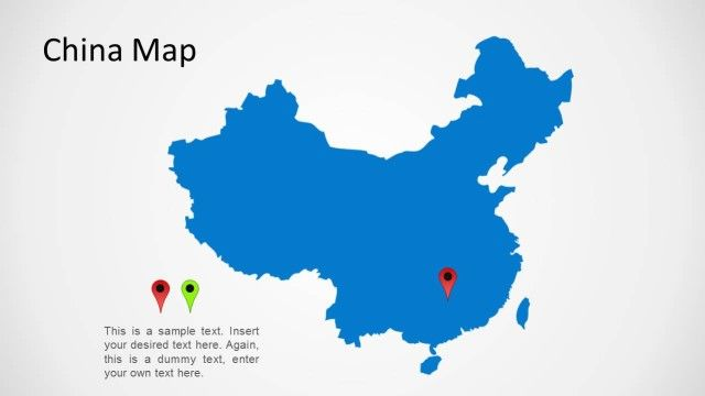 China Map for PowerPoint | Simple, Illustrations and Shape