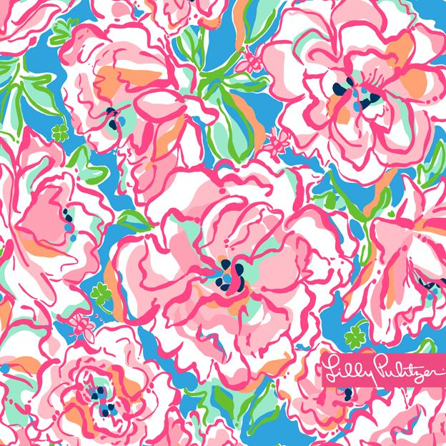 Pulitzer floral desktop wallpaper