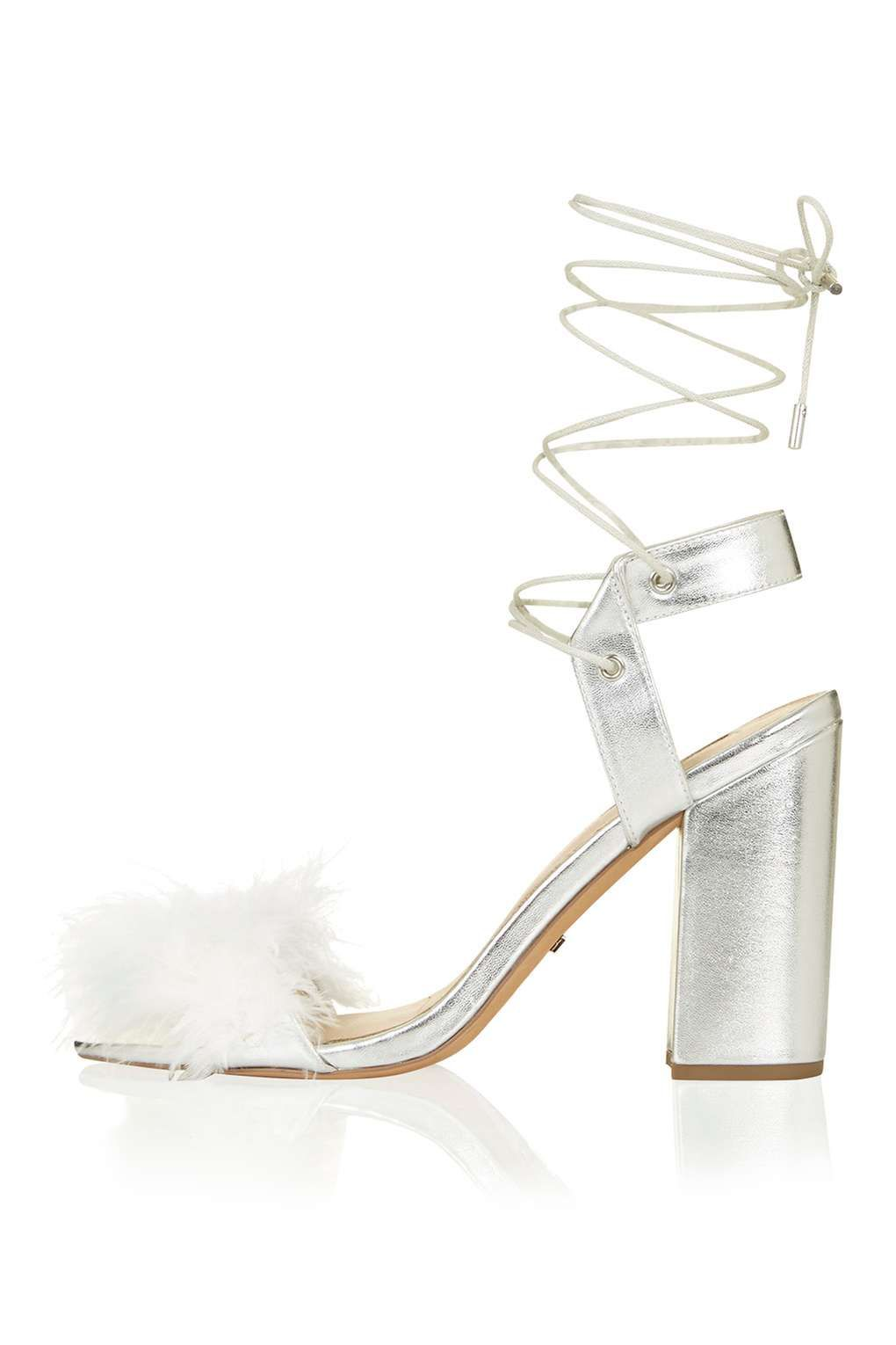65321f7719f RUFFLE Feather Sandals - Going Out - Clothing