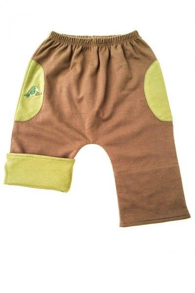 452a579a3 Mama Ocllo Baby-Hose in braun grün aus Bio-Baumwolle