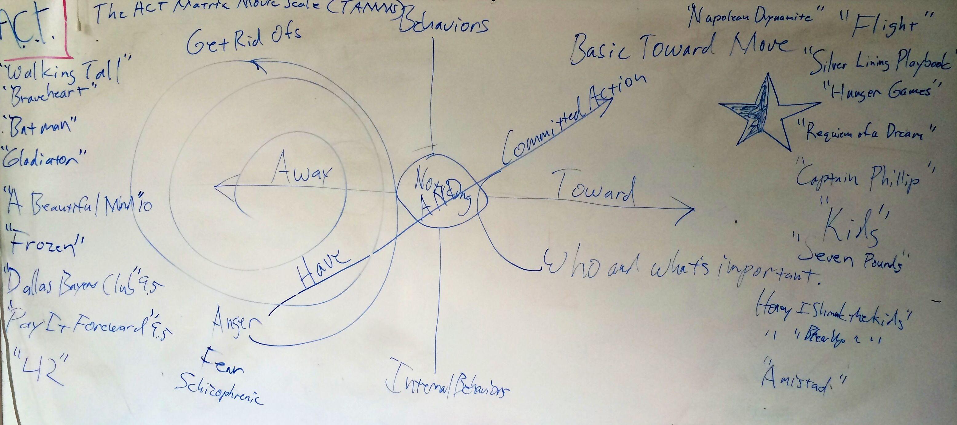 The Act Matrix Movie Scale Tamms Concept Board