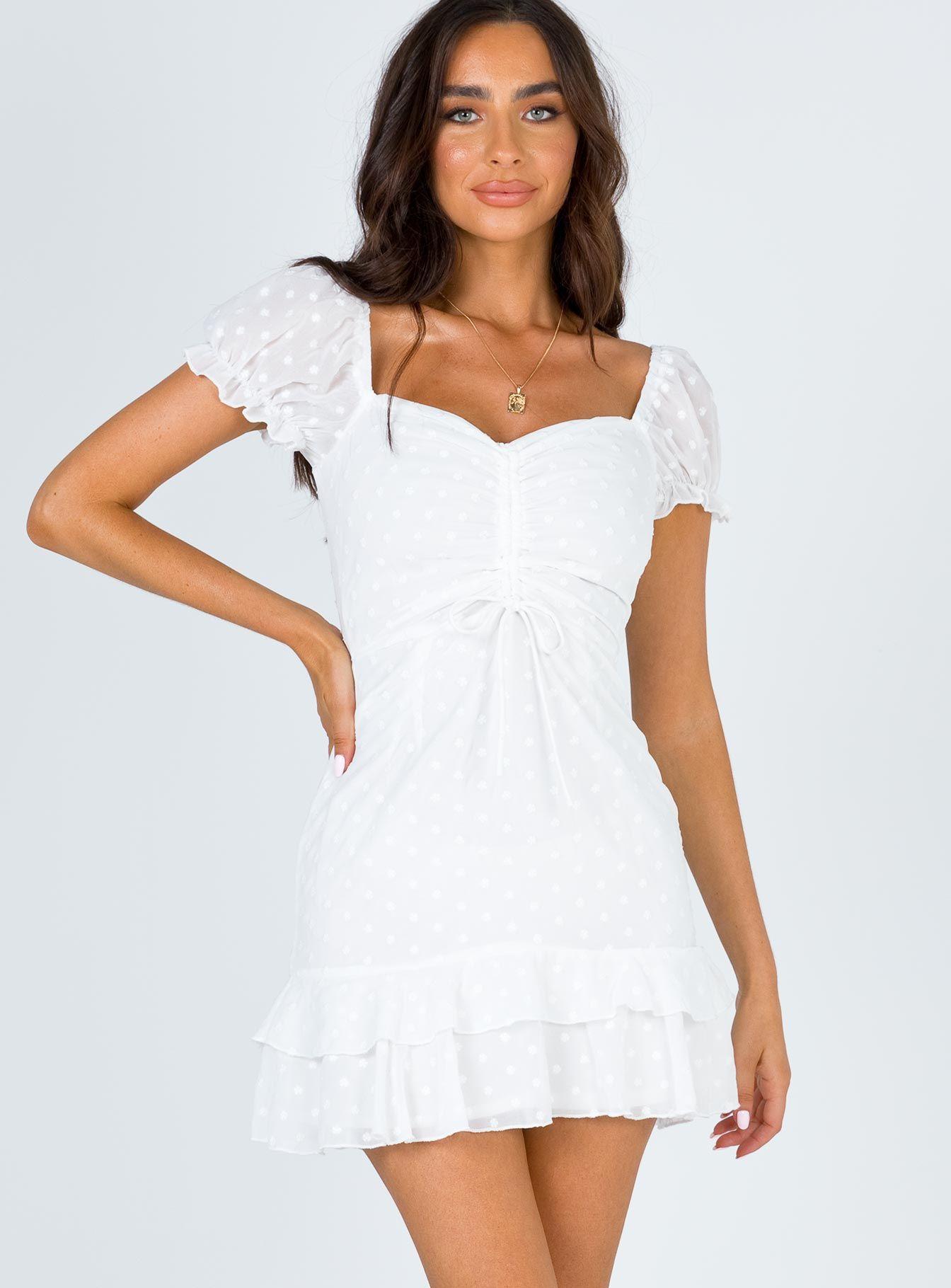 Mikail Mini Dress In 2021 Short Graduation Dresses Cute White Dress Mini Dress [ 1820 x 1344 Pixel ]