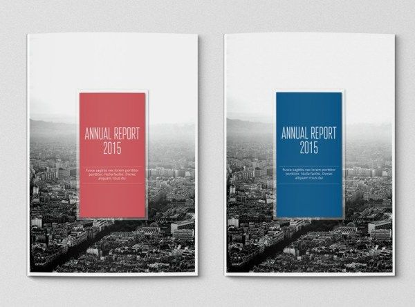Favorite So Far  Simple Annual Report Template On Behance
