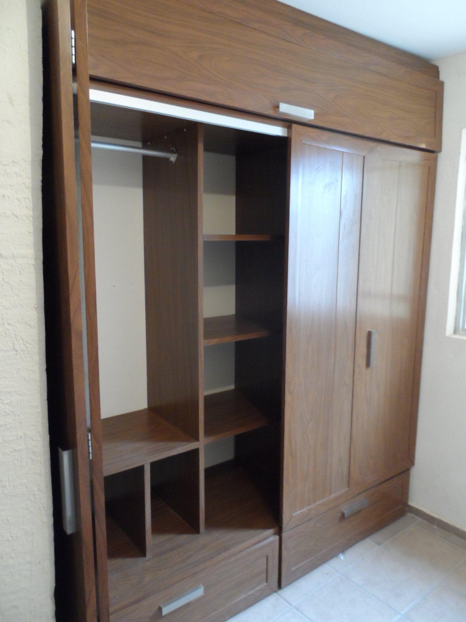 Resultado de imagen para closets modernos de madera y for Roperos para habitaciones pequenas