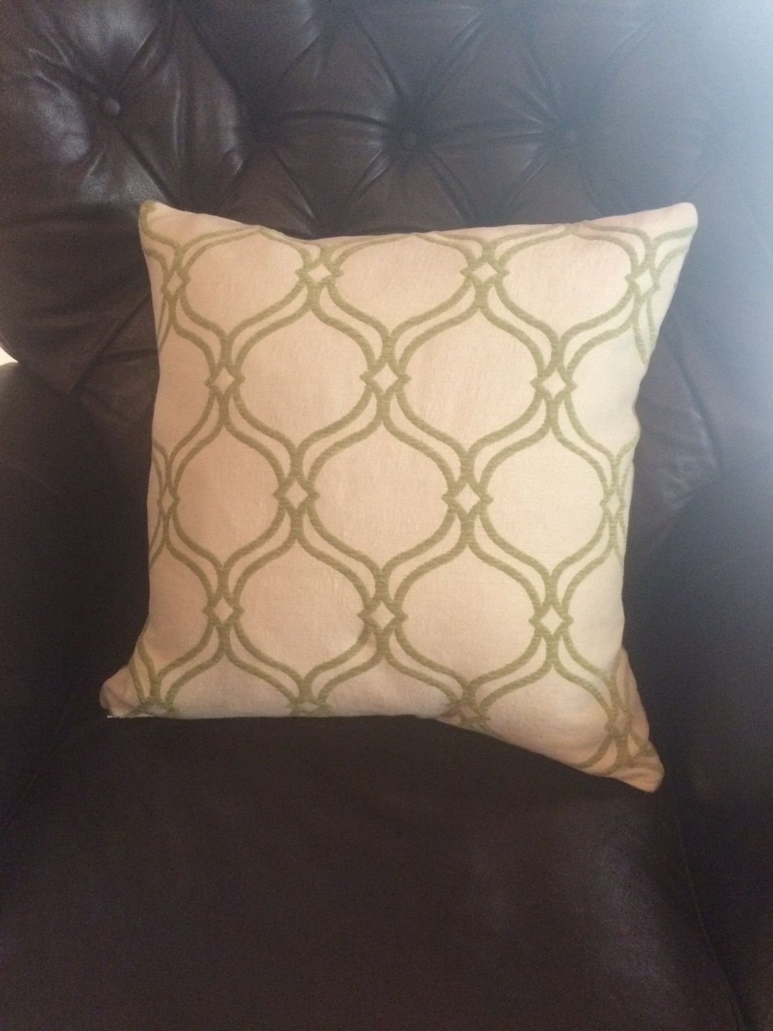 Decorative pillow cover chenille fabric pillow cover green and
