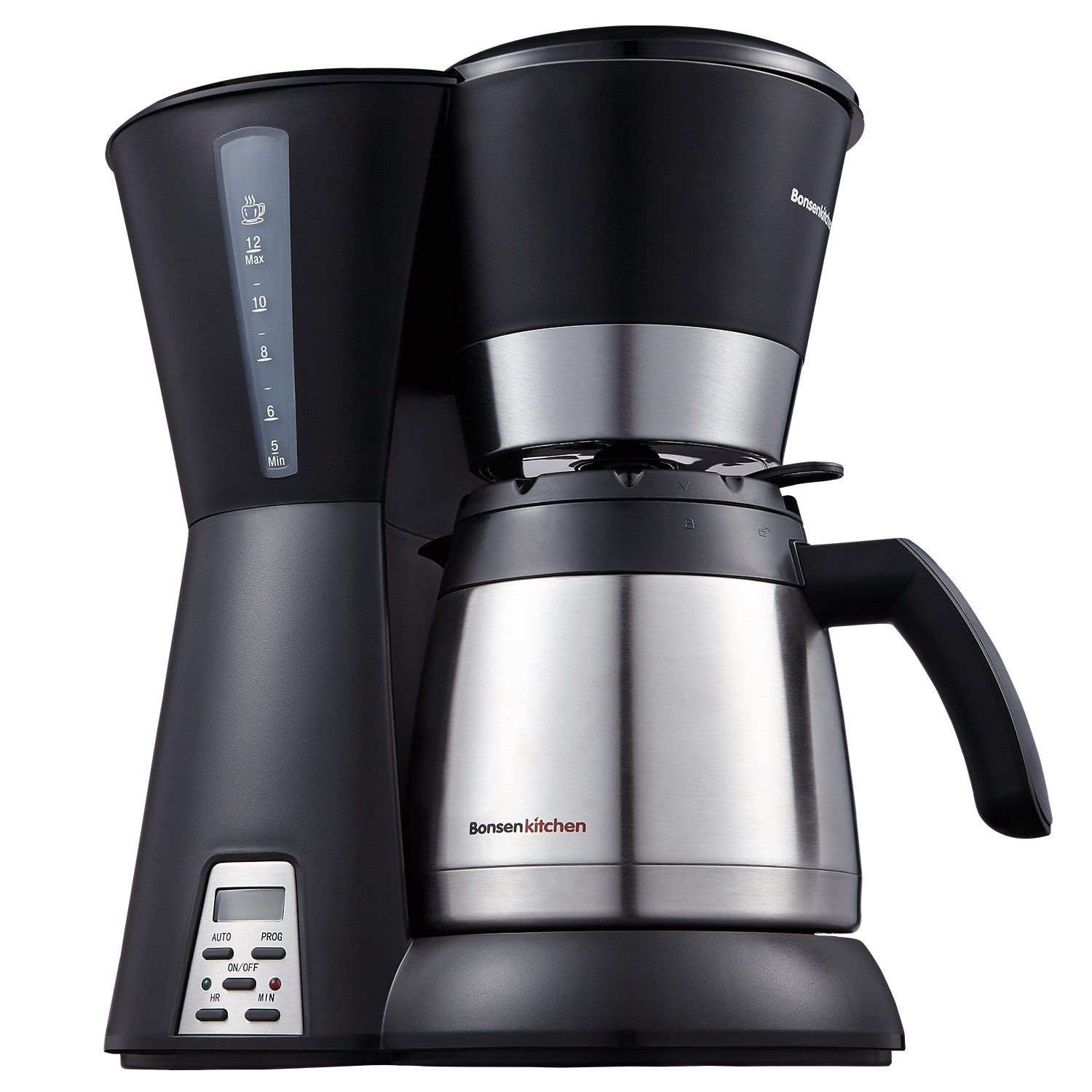 Bonsenkitchen cup thermal programmable coffee maker with permanent