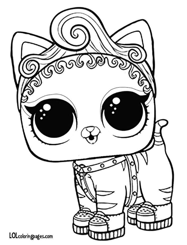 ЛОЛ раскраска котенок | Раскраски, Книжка-раскраска ...