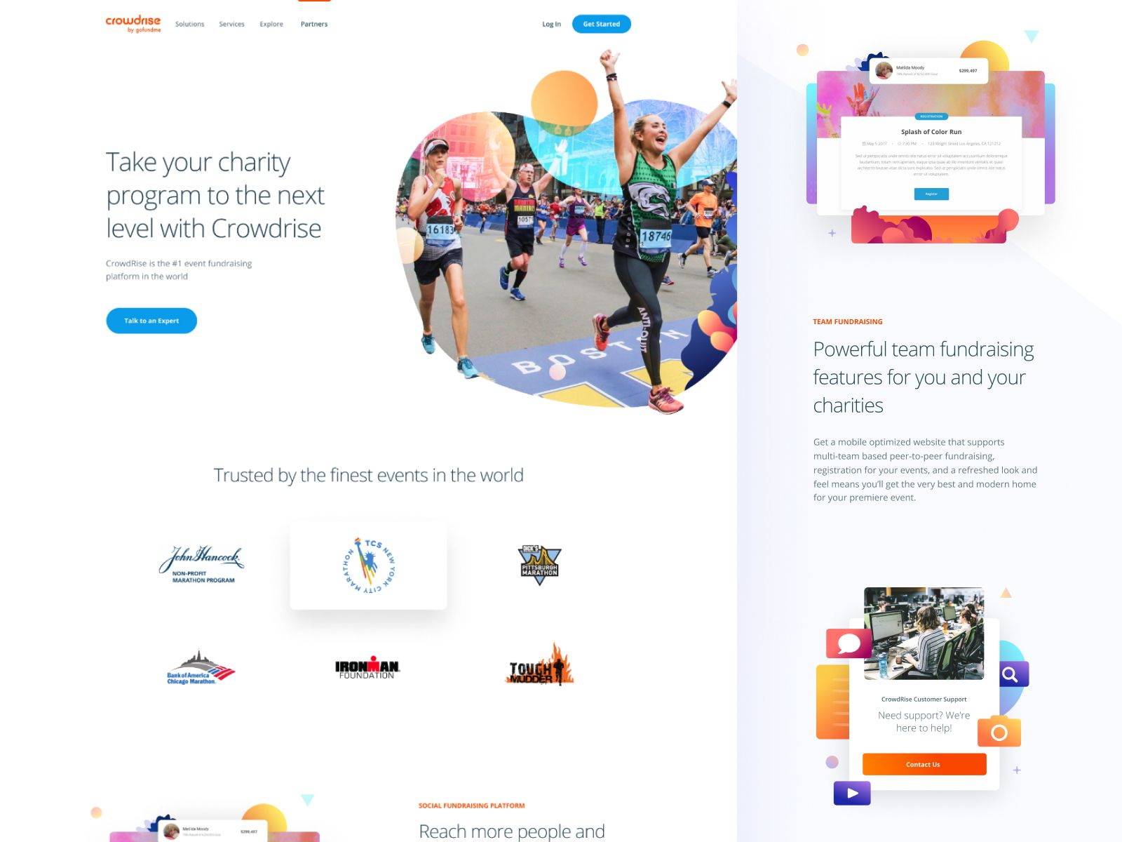 Partners Page By Peter Deltondo Responsive Web Design Layout Web Layout Design Fundraising