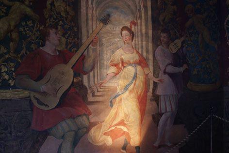 Дворец Хельбрунн: парадный зал и музыкальная комната:
