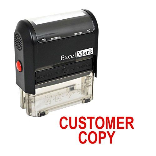 Customer Copy Self Inking Rubber Stamp Red Ink Excelmark Https Www Amazon Com Dp B003p5fu3o Ref Cm Sw R Pi Dp U X C3pbabc Red Ink Christmas Lettering Stamp