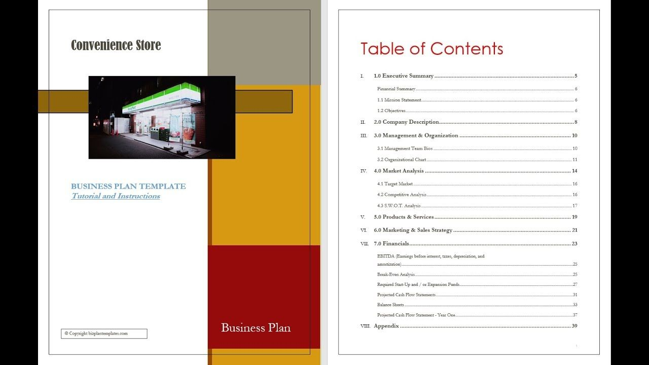 CONVENIENCE STORE BUSINESS PLAN example Business plan