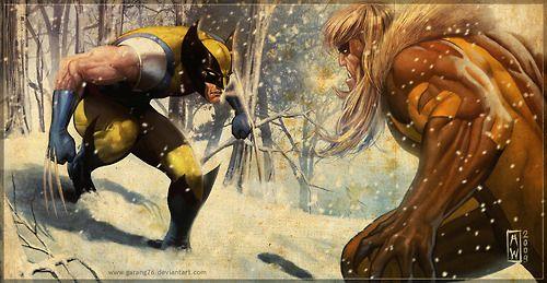 Wolverine and Sabertooth