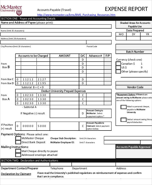 Excel Expense Report Template Free Download or Daily Report form