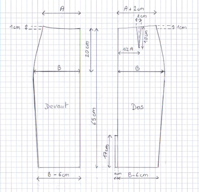 Tuto DIY jupe taille haute, explications | machine a coudre | Pinterest