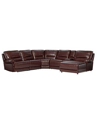 Duncan Leather Seating With Vinyl Sides U0026 Back Reclining Sectional Sofa,  Power Recliner 125