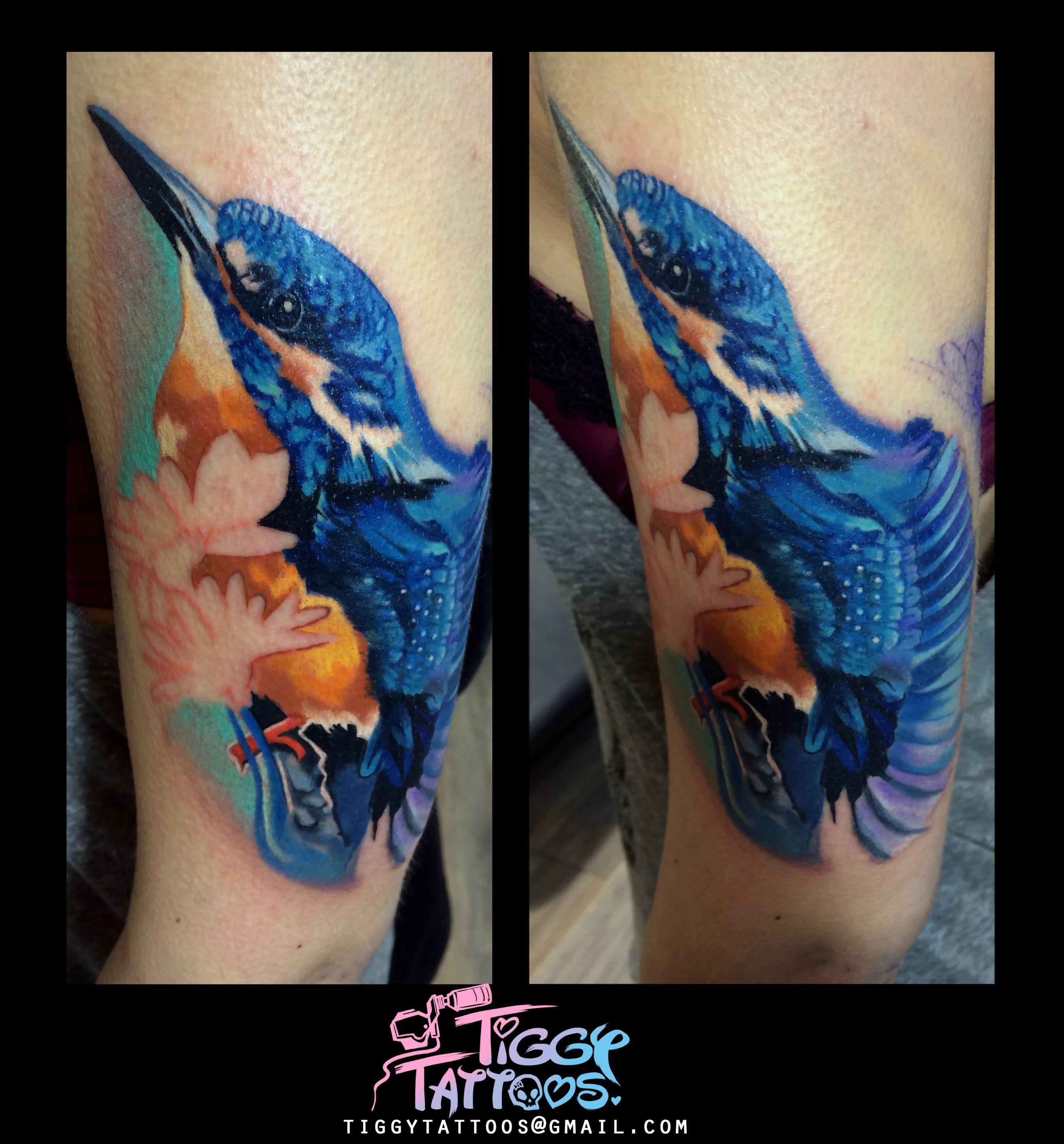 a1bc3b5b7 Tiggy Tattoos, @Kamil Tattoos, Archway North London. Kingfisher work in  progress.
