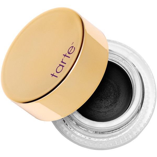 tarte Clay Pot Waterproof Liner (£14) ❤ liked on Polyvore featuring beauty products, makeup, eye makeup, eyeliner, water proof eye liner, waterproof eye liner, waterproof eyeliner, gold eyeliner and tarte