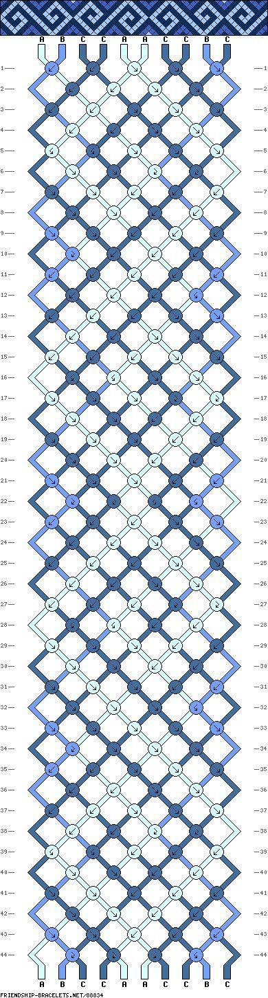 Quadrat ~ Muster # 88834 - Freundschaftsarmband ... #88834 #freundschaftsarmba...