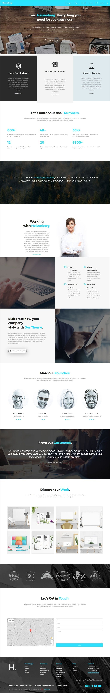 Heisenberg Multipurpose Wordpress Theme Mobile Web Design Website Design Inspiration Creative Web Design