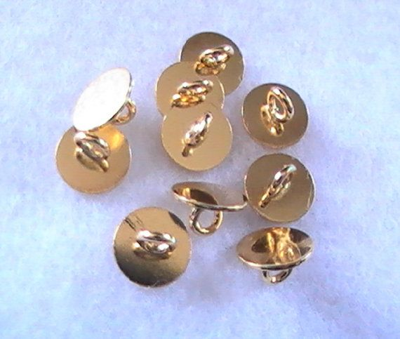 #Gold Pad Ring #Pendant #Bail #Button #Backs #8mm 10pc #DIY #Jewelry #supplies by dragonflyridge, $4.00