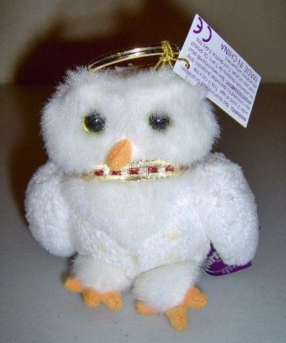 Gund Harry Potter Hedwig Keyring Plush Key Ring NEW Old Stock Owl Bird NOS Beanie  Babies 15d48eaf22c