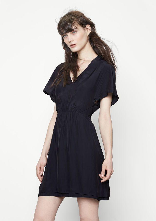 Robe fluide et soyeuse - Robes - Maje.com