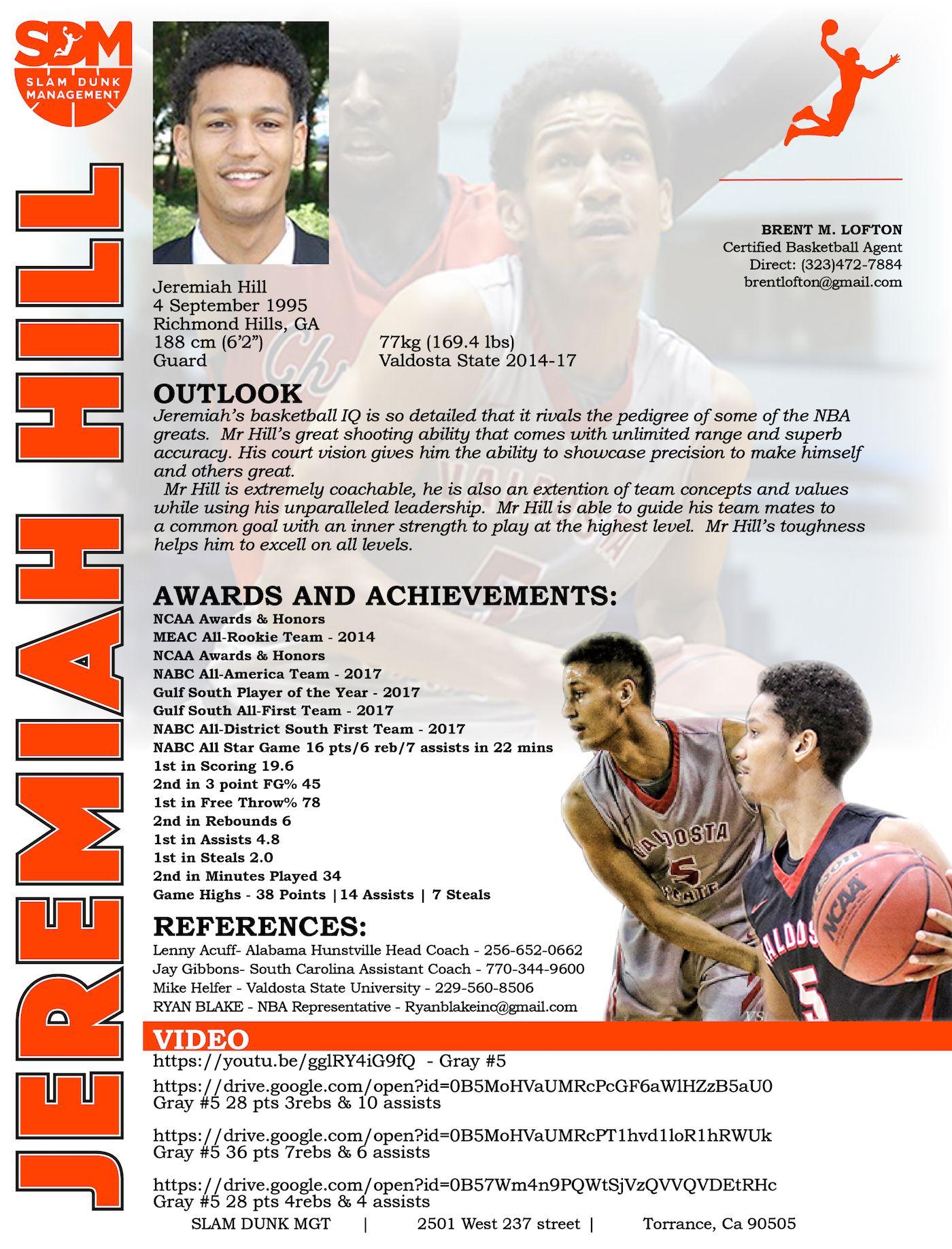 resume recruiting collegesports playerprofile