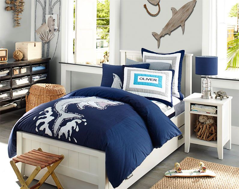 Shark room. I love the dresser. Decorating Boys Room & Boy Bedroom Design  Ideas - Shark Room. I Love The Dresser. Decorating Boys Room & Boy Bedroom