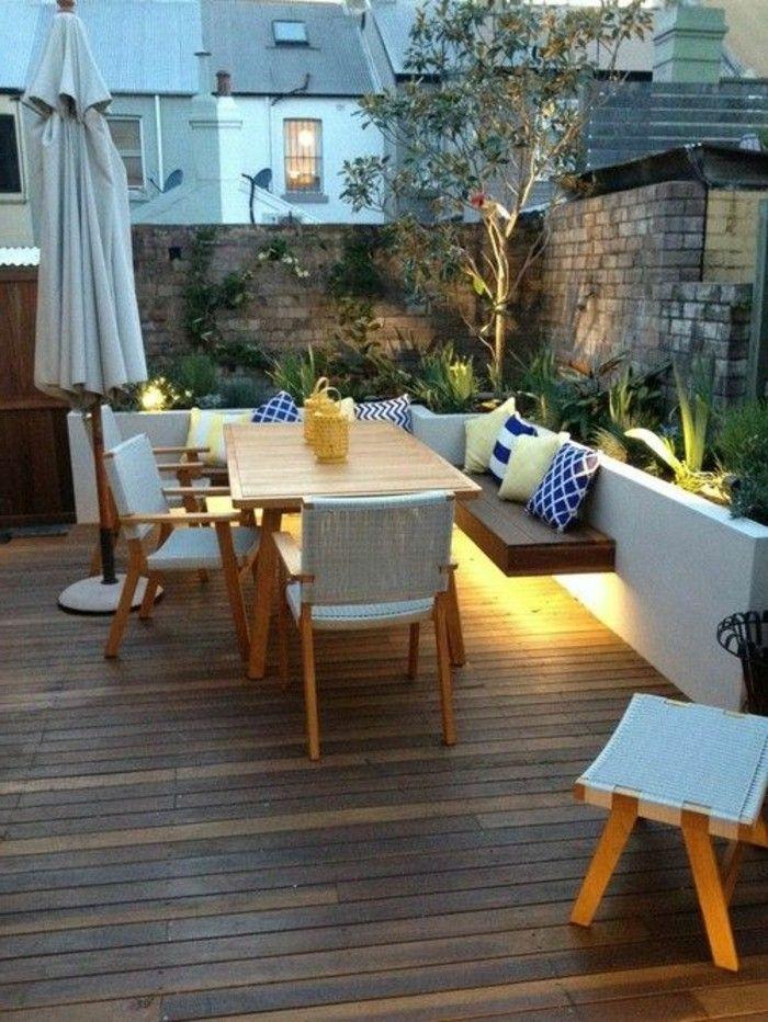 Garten Terrasse Gestalten Mit Holz Bodenbelag
