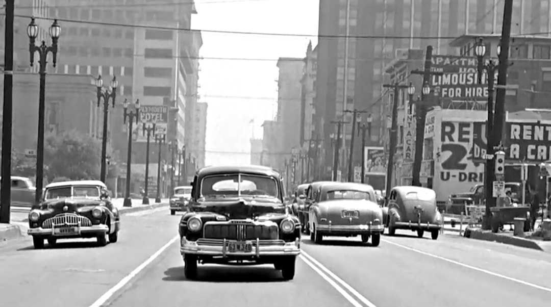 Take A Trip On The Streets Of Los Angeles In The Late 1940s With Images Richmond Melbourne Vintage Cars Street